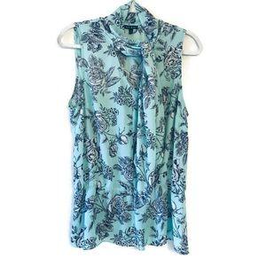 Sami & Jo Turquoise Sleeveless Floral Blouse